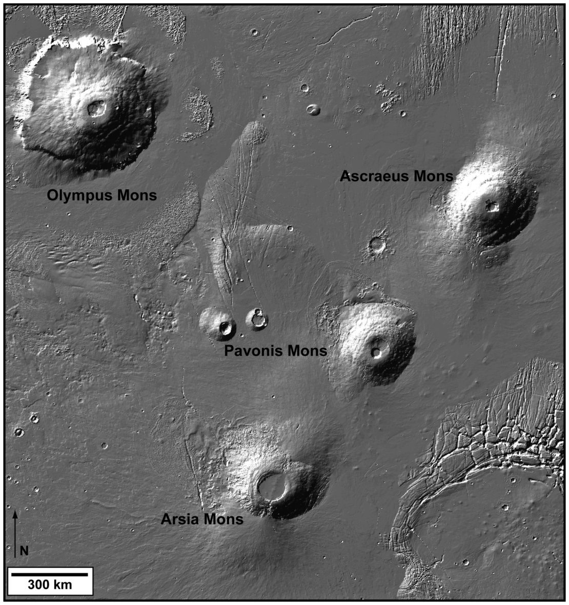 Tharsis region of Mars