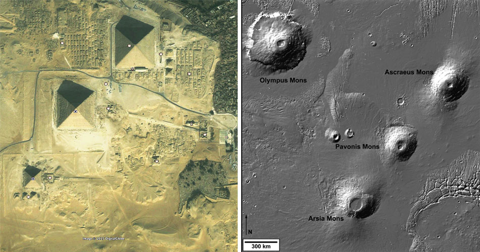 Mars Giza Comparison Image