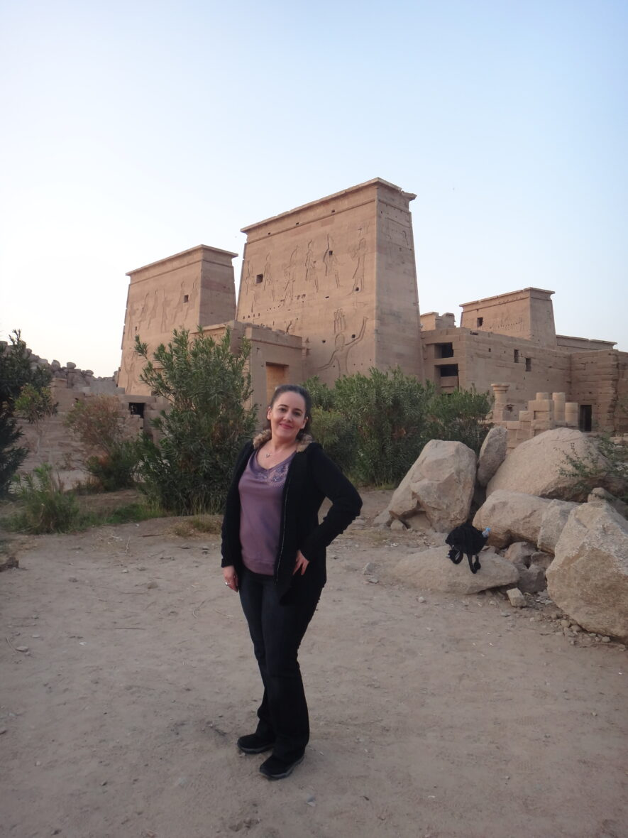 Angela at the Temple of Isis Philae, Egypt