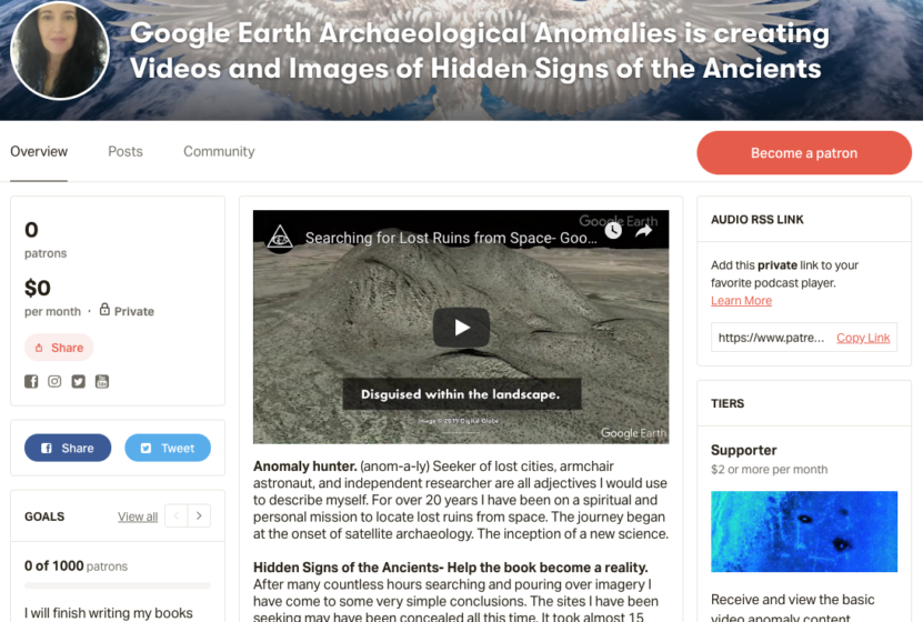 Patreon- Google Earth Anomalies